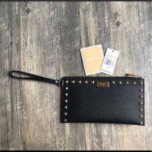Michael Kors Sandrine Stud Large zip clutch